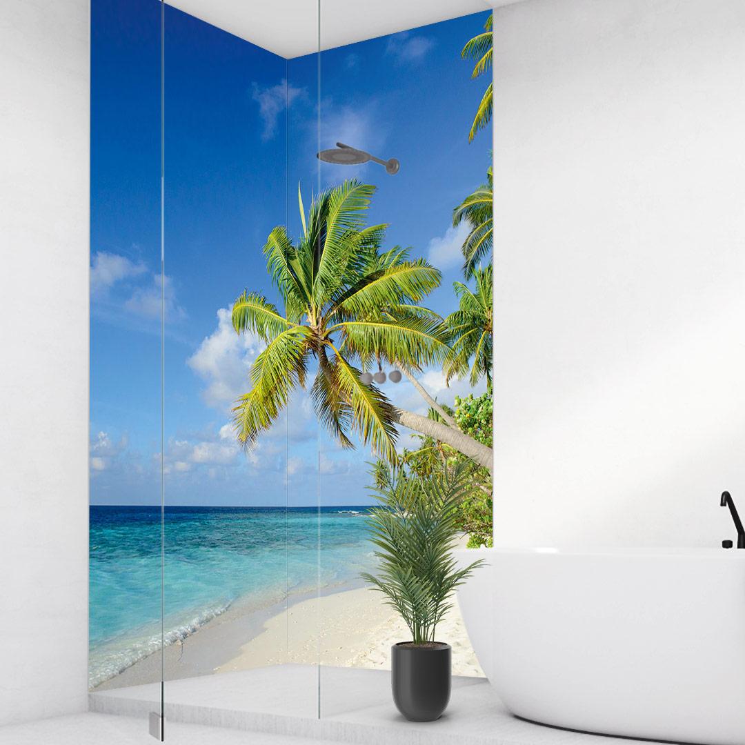 Duschrückwand Bahamas über Eck Set
