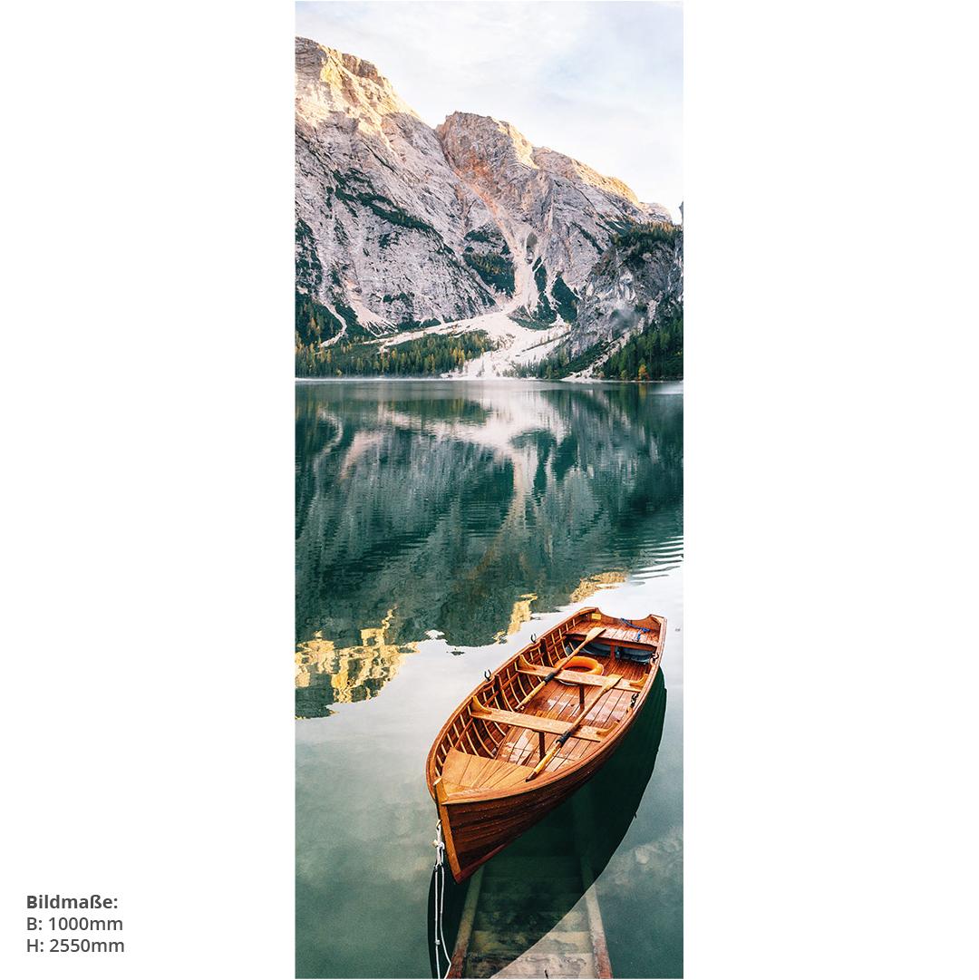 See mit Boote Dekorwand Natur