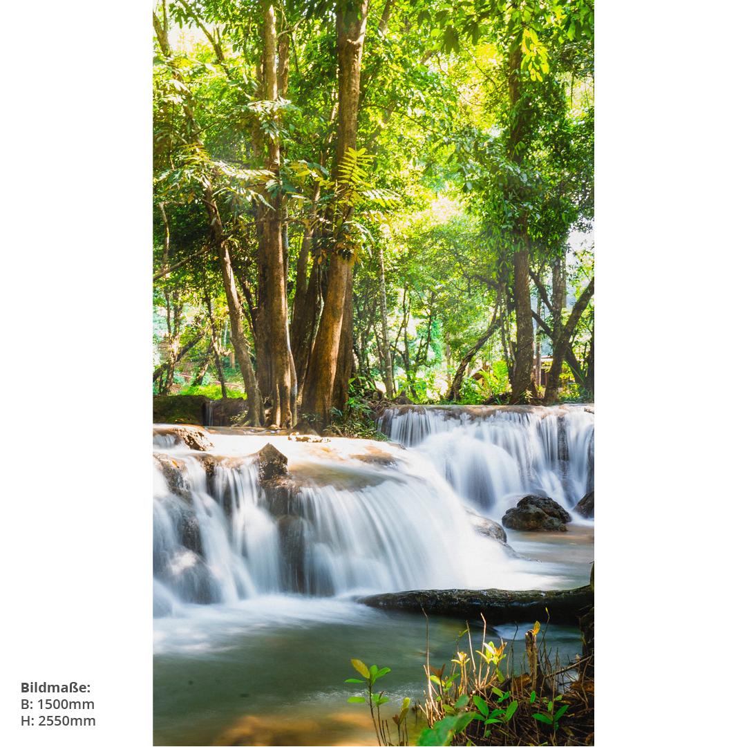 Duschrückwand Thailand Wasserfall Massen