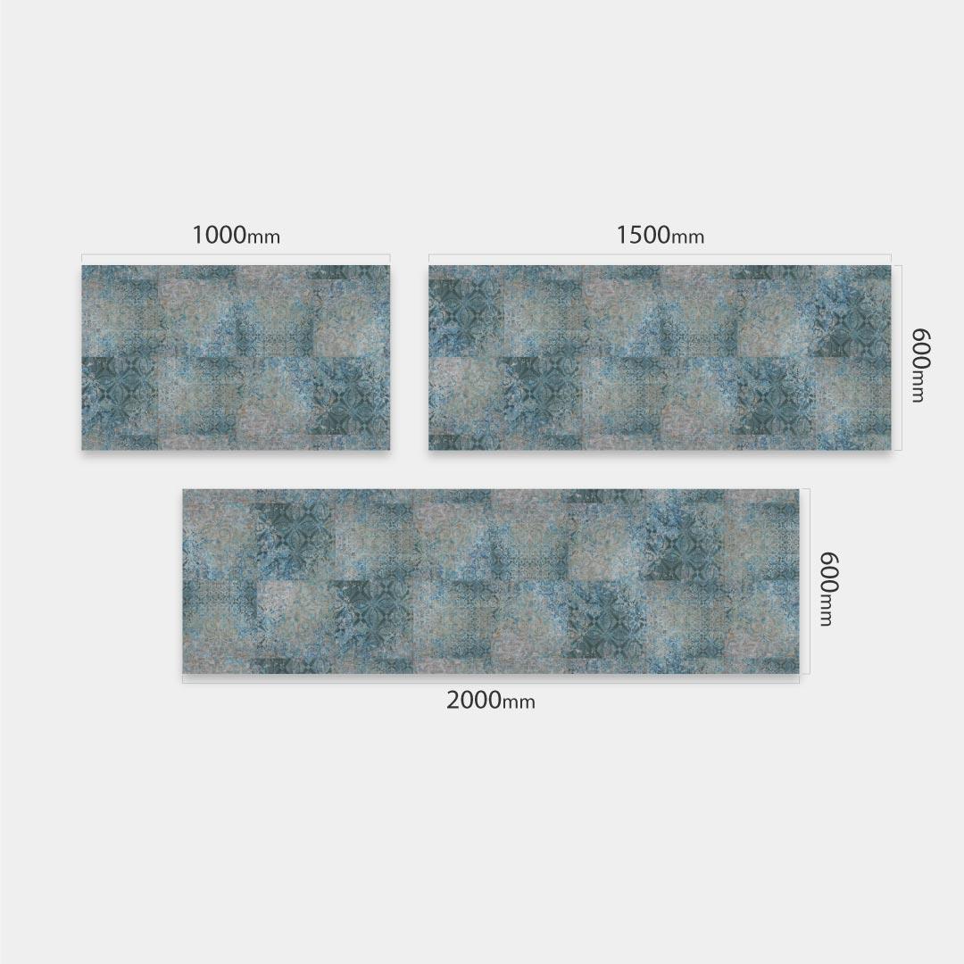 Küchenrückwand blauer türkis Mosaik