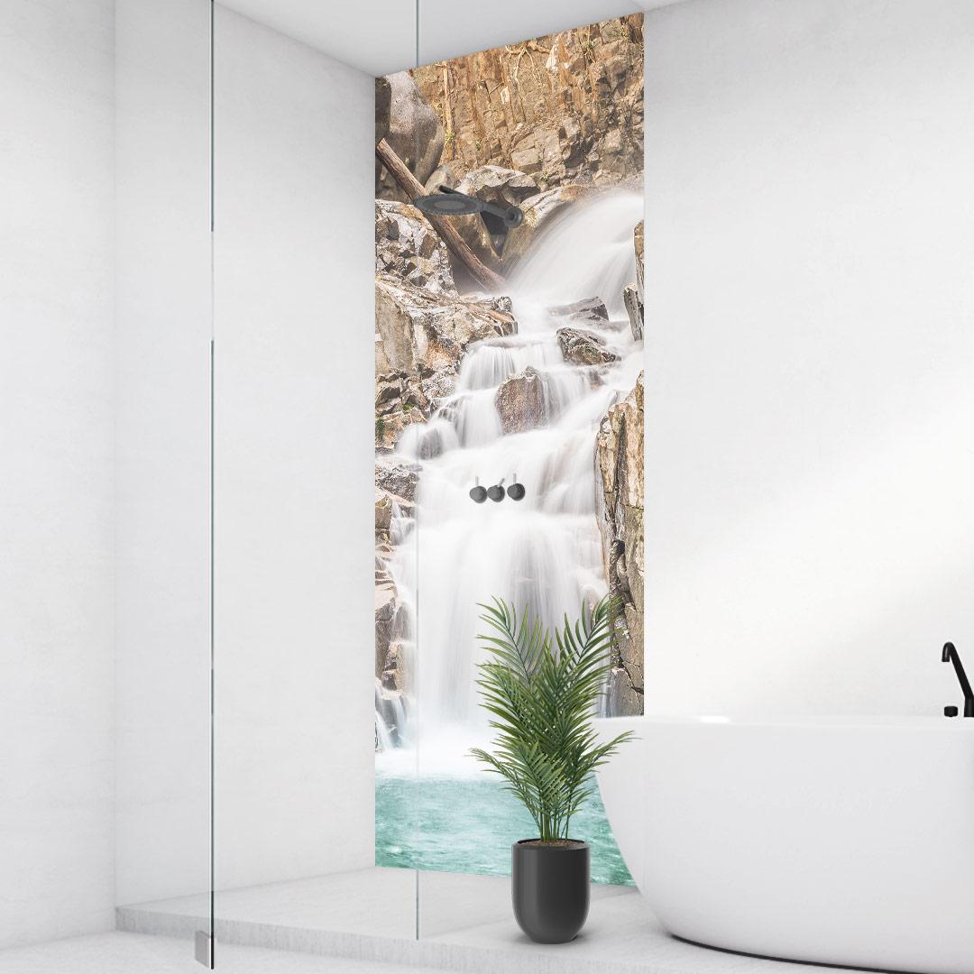 Duschrückwand Wasserfall Schwarzwald