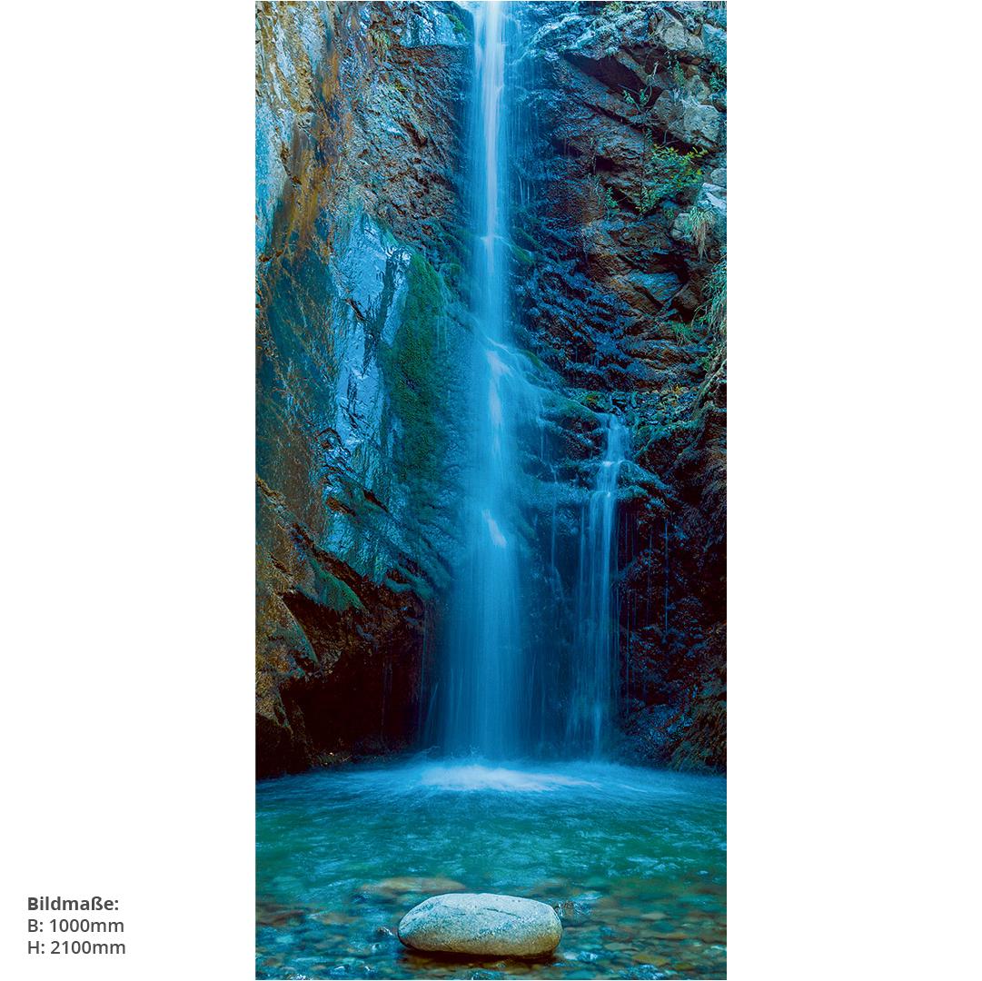 Wasserfall Duschrückwand