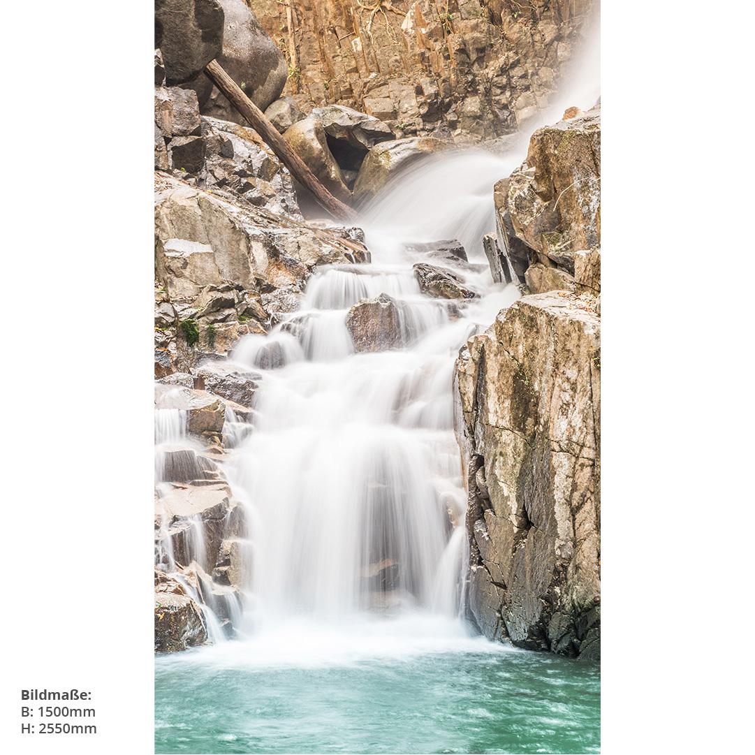 Wasserfall Schwarzwald Duschrückwand