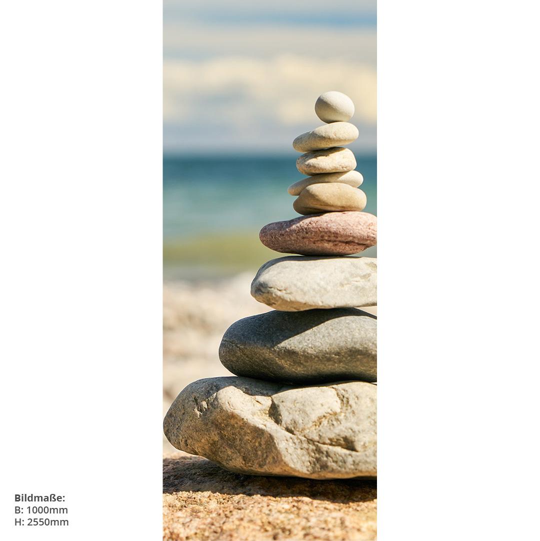 Zensteine am Strand Direktdruck