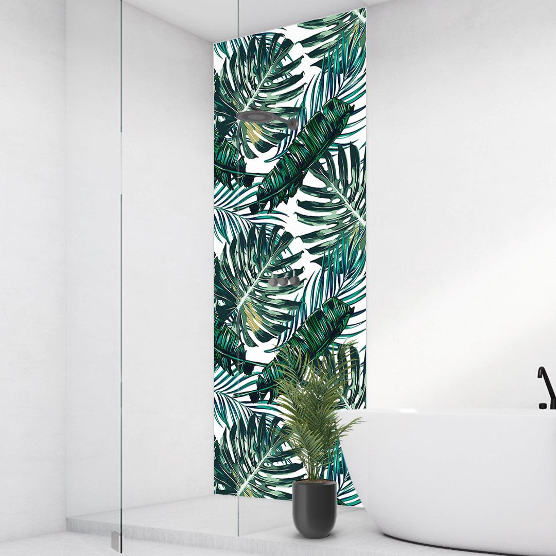 Duschrückwand Palmenblätter