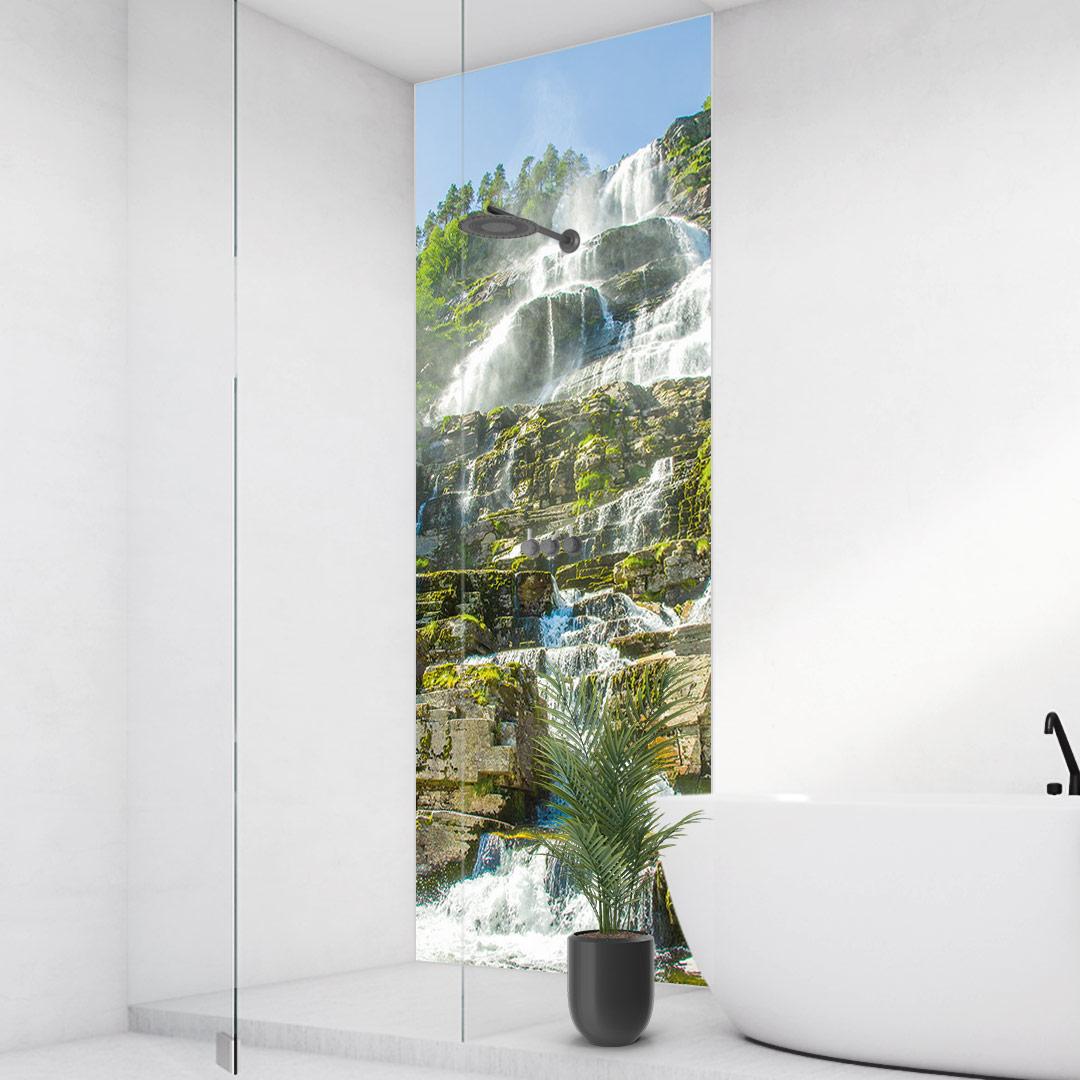 Wasserfall Norwegen Eckdusche