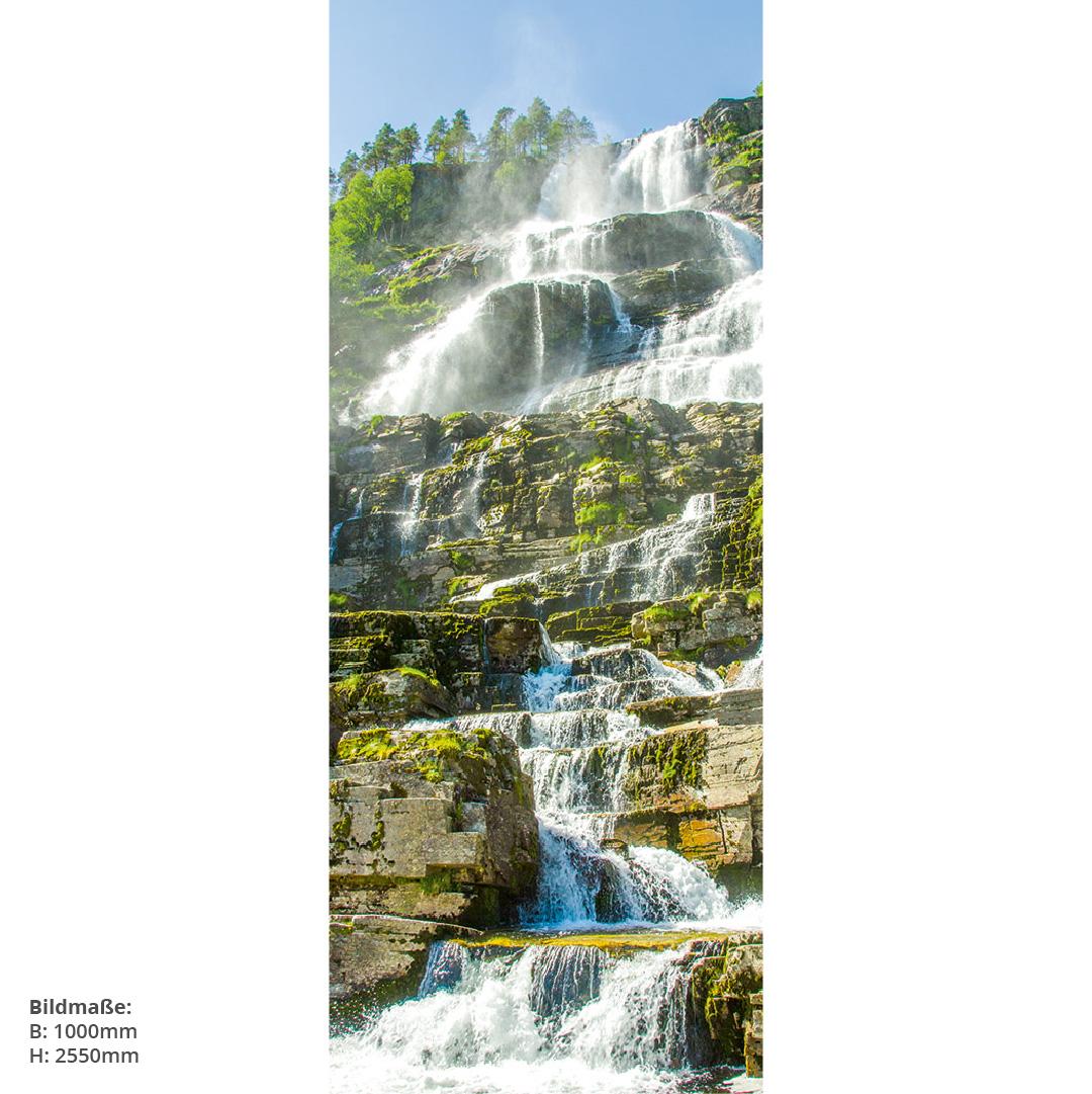 Wasserfall Norwegen Direktdruck