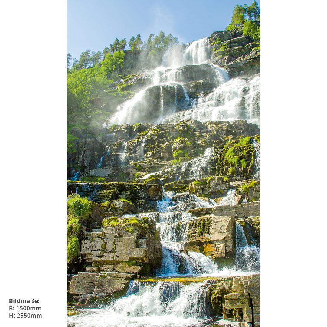 Wasserfall Norwegen Duschrückwand
