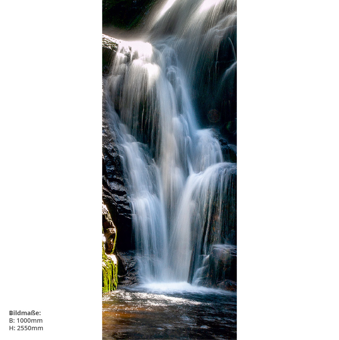 Wasserfall Berge Direktdruck